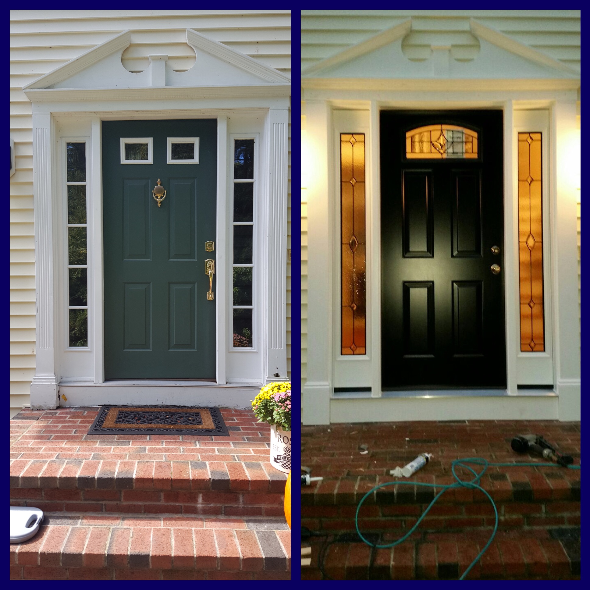 New Fiberglass front entry door in Taunton, MA